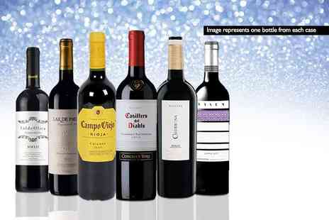San Jamon - Mystery Red Wine Deal get a six bottle case of Casillero del Diablo, Campo Viejo Crianza, Parker Red or Calderona Reserva and more - Save 0%
