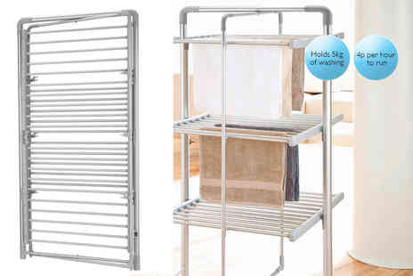 Easylife - Three tier heated tower airer - Save 39%