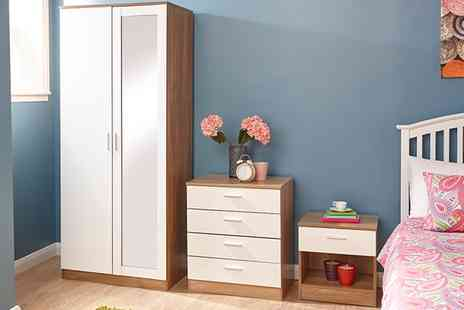Groupon Goods Global GmbH - Melbourne Gloss Bedroom Furniture With Free Delivery - Save 0%