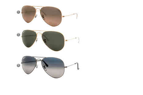 Fashion Eyewear - Pair of Ray Ban aviator sunglasses choose from nine styles - Save 43%