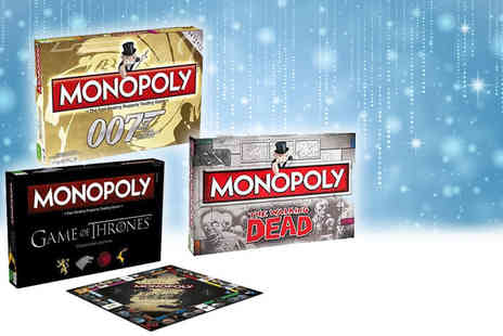 Linen Ideas - Themed Monopoly board game choose from Game of Thrones, the Walking Dead or James Bond themes - Save 44%