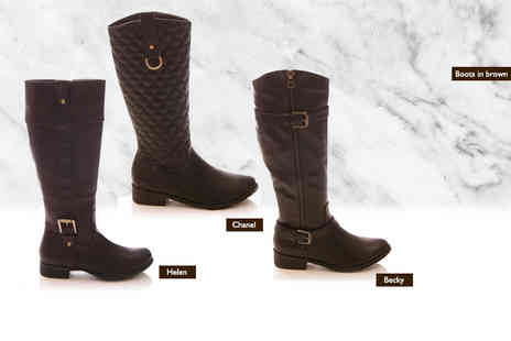 Starmark Import Export - Pair of faux leather riding boots choose from three styles - Save 83%
