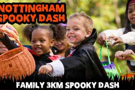 Spooky Dash - Nottingham 3KM Spooky Dash ticket on 29 October - Save 0%