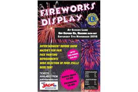 Lions Club Reading - Fireworks Display Ticket On 5 November - Save 0%