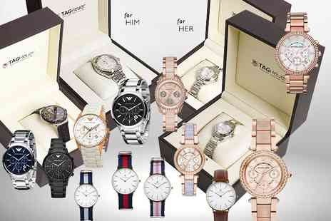 The Watch Supermarket - A Luxury Mystery Watch Deal for him or her get a simply stunning Tag Heuer, Micheal Kors, Emporio Armani, Jacob Ekland and more- Save 0%
