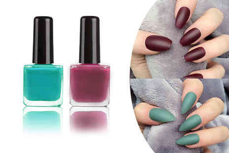 Boni Caro - Khaki or berry gel nail polish and matte top coat - Save 75%