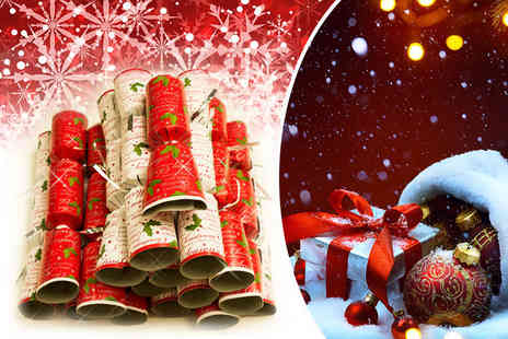 Partikle - 40 Christmas crackers decorate your table with festive class - Save 70%