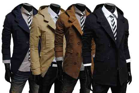 EF Mall - Mens smart hooded coat choose from four colours - Save 82%
