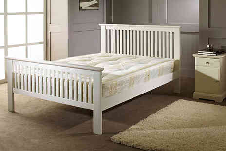 FTA Furnishing - Double wooden shaker bed - Save 60%
