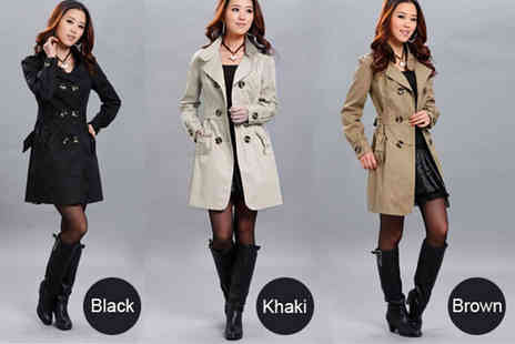 The Wholesale Group - Ladies slim fit trench coat - Save 61%