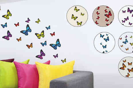 Deco Matters - Butterfly Wall Stickers Six Colours - Save 67%
