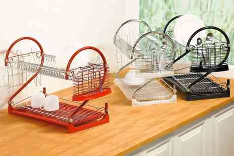 Sashtime - Two tier dish drainer - Save 78%