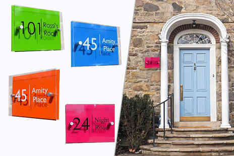 Country House Signs - Neon house sign choose from four colours - Save 60%