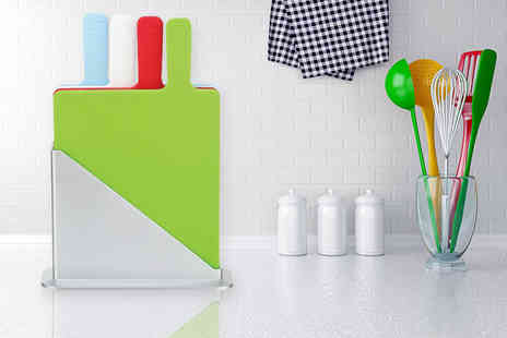 Zoozio - Five piece colour coded chopping board set - Save 67%