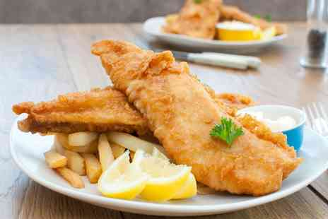 Kings Cafe - Fish and Chips with Bread and Tea for Two or Four - Save 0%