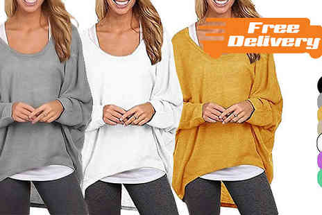 Bazaar me - Oversized Slouchy Jumper Seven Colours With Free Delivery - Save 70%