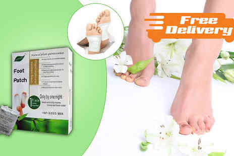 Seated Toad - 10, 20 or 30 Detox Foot Patches Free Delivery - Save 83%