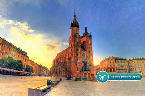 ClearSky Holidays - Two night Krakow break including flights and spa access choose from eight departure airports - Save 0%