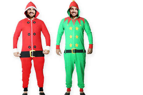 Factors - Festive santa or elf onesie choose from four sizes - Save 0%