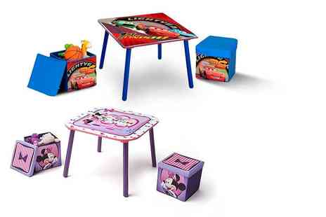 Delta Kids - A Disney Minnie Mouse or Cars Table and Ottoman Set with Storage - Save 29%