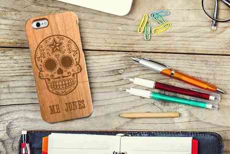 The Gift Mill - £5.99 instead of £19.99 for a personalised wooden phone case - Save 70%