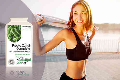 Real Protein - A two month supply of six strain probiotic blend detox cleanse - Save 66%