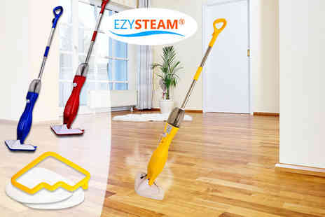 Groundlevel - EZYSteam slimline 5 in 1 steam mop choose from yellow, blue or red - Save 80%