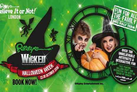 Ripleys Believe it or Not - Two Fast Track Tickets to Ripleys Wicked Halloween Week on 22 To 30 October - Save 63%