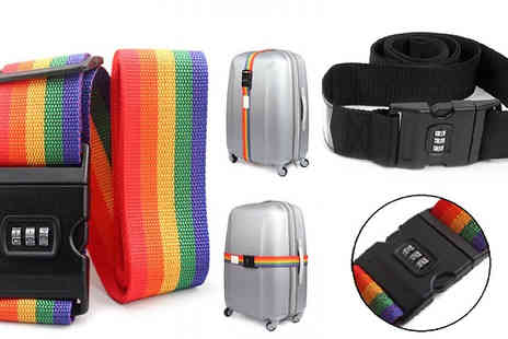 Fakurma  - Dual Luggage Strap with Combination Lock - Save 72%