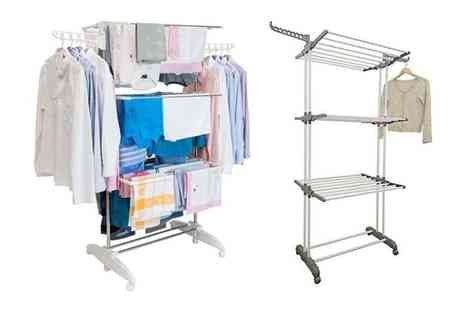 Ricomex - An extra large three tier indoor clothes airer with side wings - Save 71%