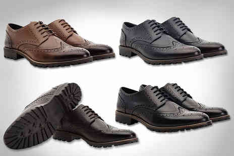 Shoeprimo - A pair of mens leather brogues choose from four colours - Save 82%