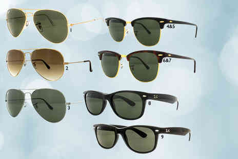 Fashion Eyewear - A pair of Ray Ban sunglasses choose from 17 styles - Save 39%