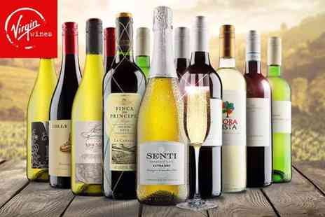 Virgin Wines - 12 bottle selection of hand crafted boutique wines including a bottle of Prosecco - Save 63%