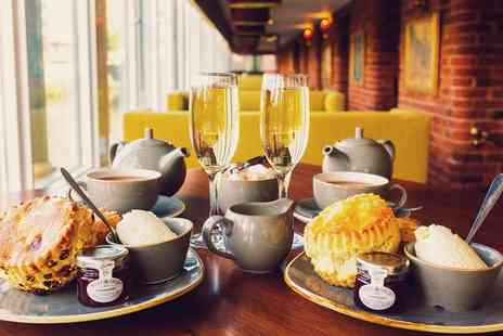 Manchester Marriott Victoria & Albert Hotel - 4 Star Cream Tea with Sparkling Wine for Up to Four People - Save 0%
