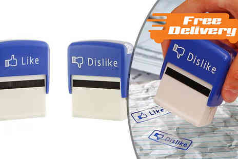 Intradify - Like and Dislike Stamp Set  Free Delivery - Save 0%