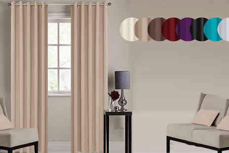 Rynz Collection - Black Out Curtains with Ring Top Eyelets Six Sizes and Eight Colours - Save 20%