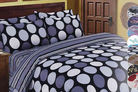 Rynz Collection - Four Piece Printed Bedding Set 8 Designs - Save 28%