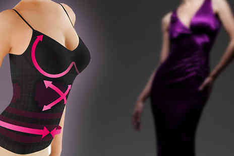 India Rose Designs - Ladies Slimming Vest Available in Two Sizes - Save 72%
