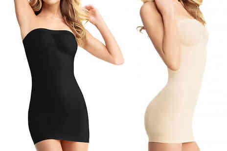 India Rose Designs - Black or Nude Body Shaping Slip - Save 64%