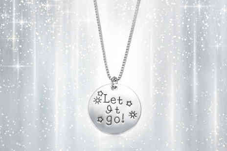 India Rose Designs - Silver Plated Let It Go Necklace - Save 78%