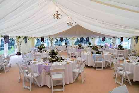 Friars Carse Hotel - Wedding package for 50 guests with marquee, 3 course wedding meal and more - Save 0%