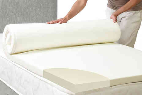 Groundlevel - Single, double, king or super king size 1 inch memory foam mattress topper - Save 78%