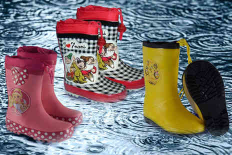 Dream Price Direct - Pair of childrens rain boots choose from three designs - Save 50%