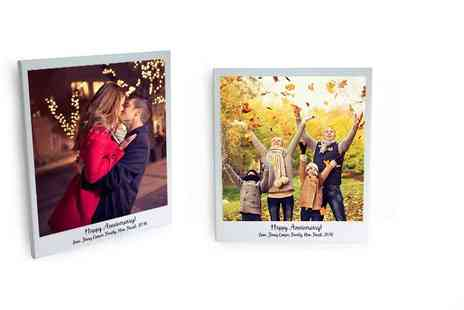 The Image Box - Personalised square polaroid canvas - Save 81%