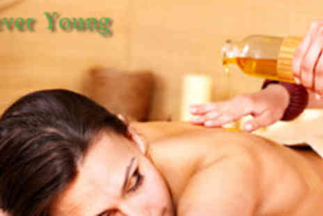 Forever Young - 40 Minute Full body aromatherapy massage plus glass of wine on arrival - Save 76%