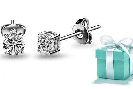Groupon Goods Global GmbH - Earrings with Crystals from Swarovski with Chance of Receiving Tiffany Diamond Earrings - Save 0%