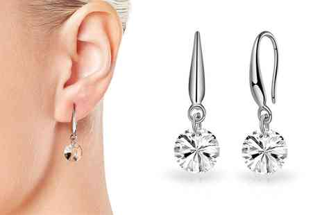 Groupon Goods Global GmbH - One or Two Pairs of Earrings with Crystals - Save 0%
