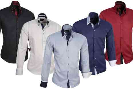 Groupon Goods Global GmbH - Farrabi Slim Fit Fashion Shirts by Tonelli - Save 0%