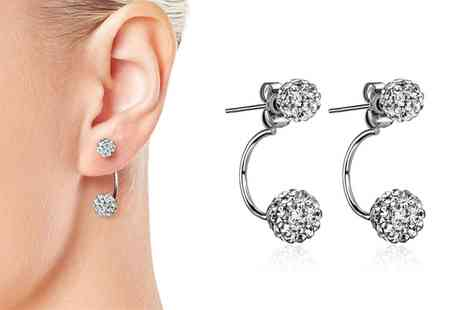 Groupon Goods Global GmbH - Shamballa Drop Earrings - Save 0%