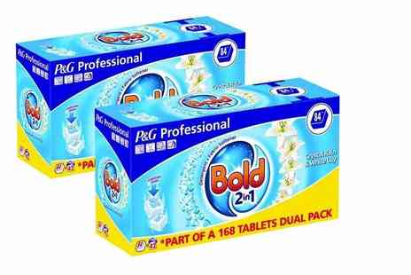 Ckent Ltd - 168 Bold 2 in 1 washing tablets - Save 60%